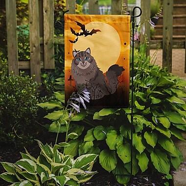 Caroline's Treasures Halloween Siberian Cat 2-Sided Garden Flag