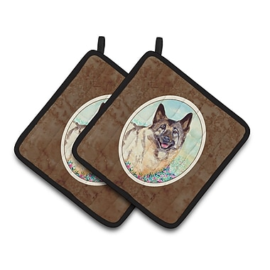 Caroline's Treasures Norwegian Elkhound Potholder (Set of 2)