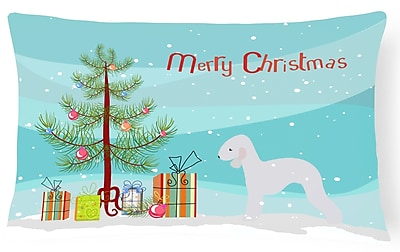 The Holiday Aisle Bedlington Terrier Indoor/Outdoor Lumbar Pillow