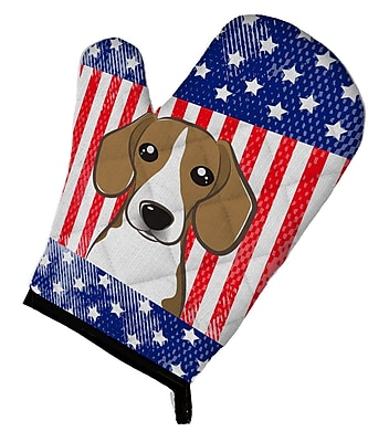 Caroline's Treasures American Flag and Beagle Oven Mitt