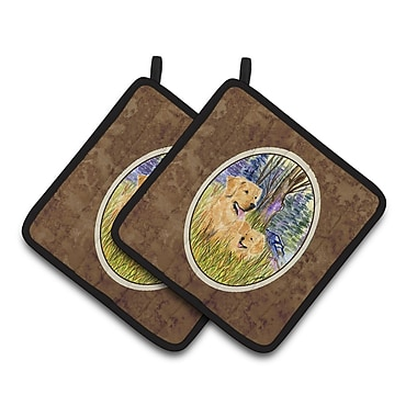 Caroline's Treasures Golden Retriever Potholder (Set of 2)
