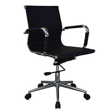 Lone Star Chairs Mid-Back Desk Chair; Black