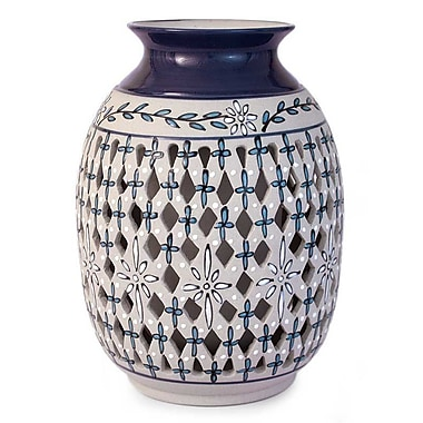 Novica Diamond Constellation Ceramic Table Vase