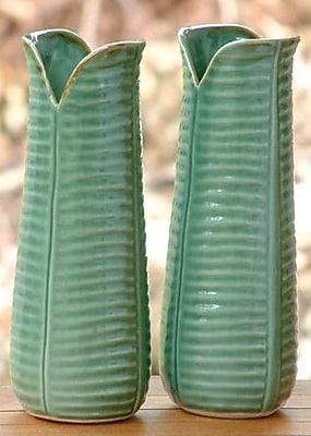 Novica Ceramic Leaf Table Vase (Set of 2)