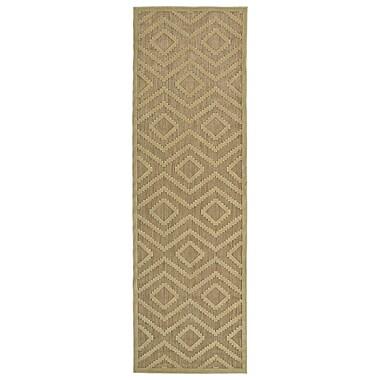 Varick Gallery Shirehampton Hand-Woven Khaki Indoor/Outdoor Area Rug; 3'10'' x 5'8''