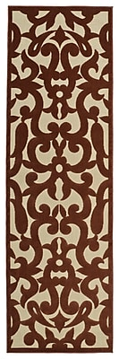 Charlton Home Covedale Machine Woven Terracotta Indoor/Outdoor Area Rug; 2'1'' x 4'