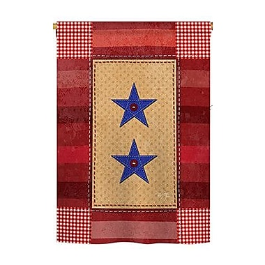 TwoGroupFlagCo Two-Star Service 2-Sided Vertical Flag; 40'' H x 28'' W