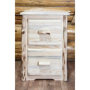 Loon Peak Abordale 2 Drawers File Cabinet; Lacquered