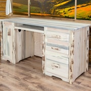 Loon Peak Abordale 3 Drawers Computer Desk; Lacquered
