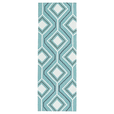 Varick Gallery Doylestown Hand-Tufted Blue Indoor/Outdoor Area Rug; 5' x 7'6''