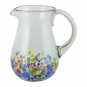 Novica Colorful Hand Blown Glass 87 oz. Pitcher