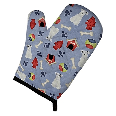 Caroline's Treasures Dog House Miniature Schanuzer Oven Mitt; White