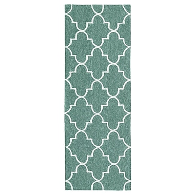 Charlton Home Cowan Hand-Tufted Mint Indoor/Outdoor Area Rug; 2' x 3'