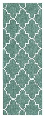 Charlton Home Cowan Hand-Tufted Mint Indoor/Outdoor Area Rug; Rectangle 5' x 7'6''