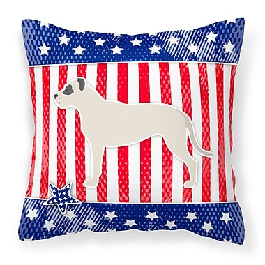 The Holiday Aisle Patriotic Modern Square Indoor/Outdoor Throw Pillow; 14'' H x 14'' W x 3'' D