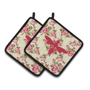 Caroline's Treasures Wasp Shabby Elegance Chic Roses Potholder (Set of 2);... by