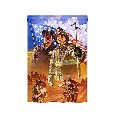 TwoGroupFlagCo Heroes 2-Sided Vertical Flag; 18.5'' H x 13'' W