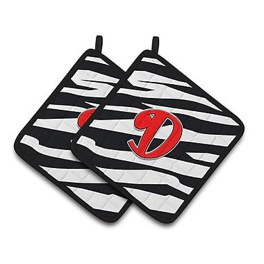 Caroline's Treasures Zebra Potholder (Set of 2); D
