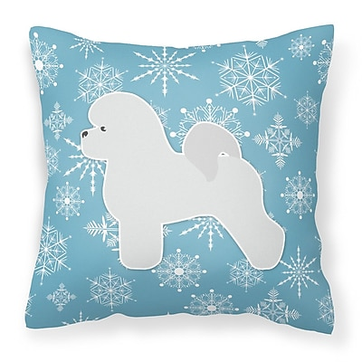 Caroline's Treasures Winter Snowflakes Indoor/Outdoor Throw Pillow; 14'' H x 14'' W x 3'' D