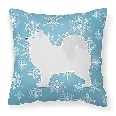 Caroline's Treasures Winter Snowflakes Indoor/Outdoor Throw Pillow; 18'' H x 18'' W x 3'' D