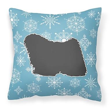 Caroline's Treasures Winter Snowflakes Indoor/Outdoor Throw Pillow; 14'' H x 14'' W x 3'' D