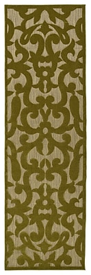 Charlton Home Covedale Machine Woven Olive Indoor/Outdoor Area Rug; Rectangle 7'10'' x 10'8''