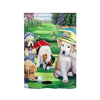 TwoGroupFlagCo Golfing Puppies 2-Sided Vertical Flag; 18.5'' H x 13'' W
