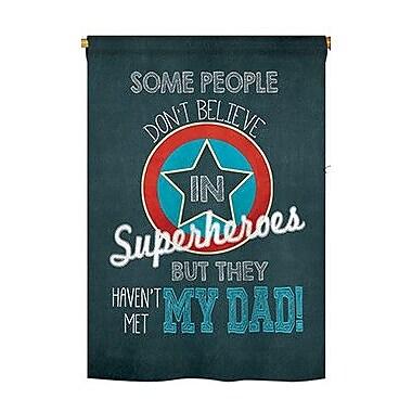TwoGroupFlagCo Superhero Dad 2-Sided Vertical Flag; 40'' H x 28'' W