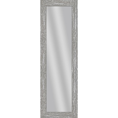 PTM Images Imperial Over the Door Mirror; Gray Wash