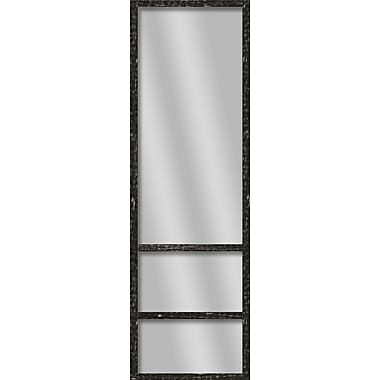 PTM Images Shelve Wall Mirror; Stone Gray