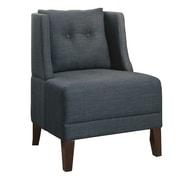 Poundex Bobkona Prissy Wingback Chair; Blue Gray