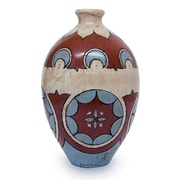 Novica Antiqued Burnished Clay Ceramic Table Vase