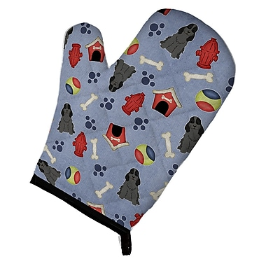 Caroline's Treasures Dog House Cocker Spaniel Oven Mitt; Black