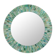 Novica Handmade Mosaic Wood Glass Wall Mirror