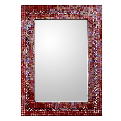 Novica Hand-Crafted Mosaic Glass Wall Mirror