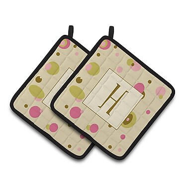 Caroline's Treasures Dots Potholder (Set of 2); H