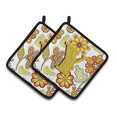 Caroline's Treasures Floral Potholder (Set of 2); Y