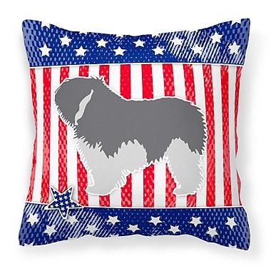 Caroline's Treasures Patriotic Dog Indoor/Outdoor Throw Pillow; 14'' H x 14'' W x 3'' D