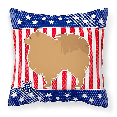 Caroline's Treasures Patriotic USA Indoor/Outdoor Throw Pillow; 14'' H x 14'' W x 3'' D