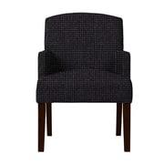 Red Barrel Studio Larose Formal Arm Chair; Black