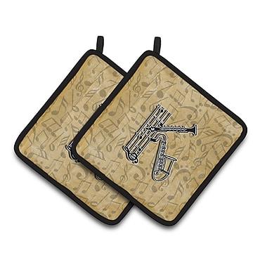 Caroline's Treasures Musical Instrument Potholder (Set of 2); K