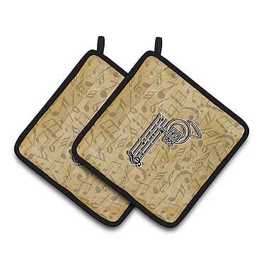 Caroline's Treasures Musical Instrument Potholder (Set of 2); P