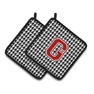 Caroline's Treasures Houndstooth Potholder (Set of 2); G