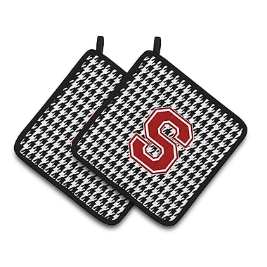Caroline's Treasures Houndstooth Potholder (Set of 2); S