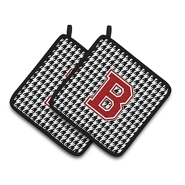 Caroline's Treasures Houndstooth Potholder (Set of 2); B