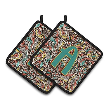 Caroline's Treasures Retro Tribal Potholder (Set of 2); A