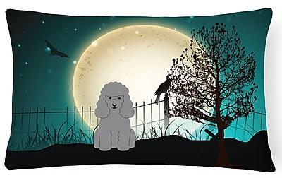 Caroline's Treasures Halloween Indoor/Outdoor Lumbar Pillow; Silver