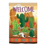 TwoGroupFlagCo Cactus 2-Sided Vertical Flag; 40'' H x 28'' W