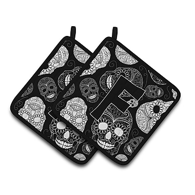 Caroline's Treasures Day of the Dead Skulls Potholder (Set of 2); F