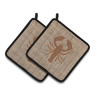 Caroline's Treasures Lobster Potholder (Set of 2); Brown